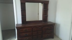 Large dresser and mirror in Yucca Valley, California