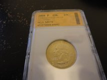 2008 p OK statehood quarter interested text 931 218 8243 in Fort Campbell, Kentucky