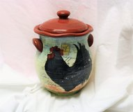 Le Rooster Canister by SUSAN WINGET 6x9 Certified International Canister Lid French Country Rust... in Kingwood, Texas