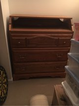 Solid oak 3 drawer chest in Batavia, Illinois