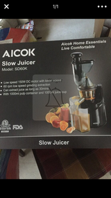 Aicok slow juicer in Lockport, Illinois