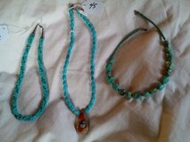 Lot of 3 turquoise necklaces in Yucca Valley, California
