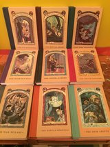 Lot of 9 hardcover  books of A Series of Unfortunate Events in Naperville, Illinois