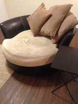 Round large comfortable chair on rollers in Clarksville, Tennessee
