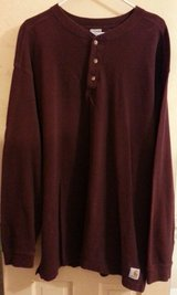 RUGGED, DURABLE CARHARTT QUALITY!  Men's XL, 100% cotton pullover, BURGUNDY! in Cherry Point, North Carolina