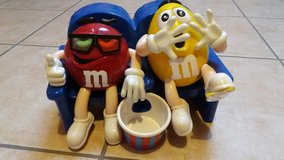 M & M's dispenser Yellow and Red, RARE in Spangdahlem, Germany