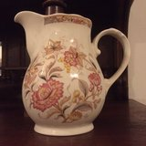 Ceranova Pitcher / Vase, Hand decorated inglaze, resistant colours in Ramstein, Germany