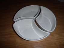 3-pc Sectional Snack Platter Stoneware Set in Tomball, Texas