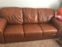 Leather couch in Bartlett, Illinois