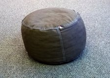 The Land of Nod brown pouf bean bag chair or foot rest in Joliet, Illinois