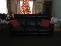 black electric recliner couch in Lockport, Illinois