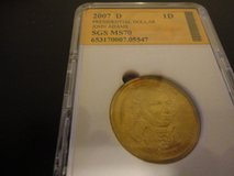 2007 d Presidential dollar  john adams   ms70 interested text 931 218 8243 in Clarksville, Tennessee