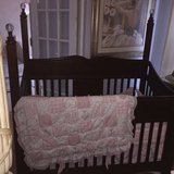 Disney baby Crib converts to a full size bed in Aurora, Illinois