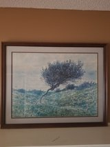 2 1/2 × 2' Framed Tree Painting in Beaufort, South Carolina