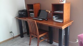 Office Desk with compartments & Chair in Lockport, Illinois