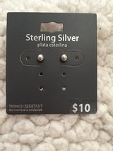 Sterling silver ball stud earrings Brand New in Shorewood, Illinois