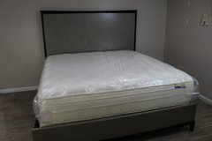 Modern King Size Bed Including Mattress in Kingwood, Texas