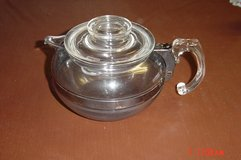 Vintage Pyrex Flameware 8126-B Glass Tea Pot Kettle Blue Tint in Orland Park, Illinois