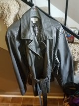 Leather-like silver coat in Fort Campbell, Kentucky