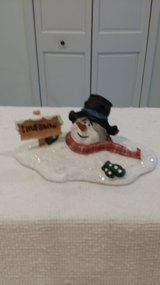 Ceramic Snowman - I Love Snow in Plainfield, Illinois