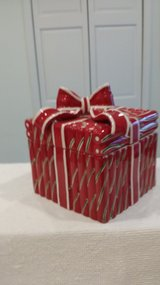 "Ceramic Candy Cane 6"" square Container in Glendale Heights, Illinois"