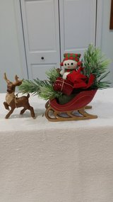 Reindeer with a Filled Sleigh in Lockport, Illinois