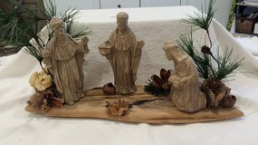 Christmas Scene on Wood in Westmont, Illinois