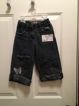 Jeans with butterfly adjustable length (girls 3T) in Joliet, Illinois