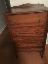 3 draw chest.   All wood in Fort Campbell, Kentucky
