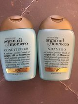 OGX Argan Oil Shampoo and Conditioner Set Travel Size Set in Shorewood, Illinois