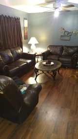 Dark Brown Leather Couch and Loveseat in Byron, Georgia