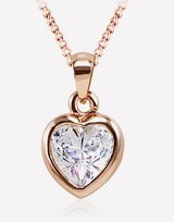 Heart Crystal Pendant Necklace in Barstow, California