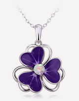 Flower Crystal Necklace Made with Austrian Crystals in Barstow, California