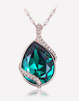 Pear Pendant Crystal Necklace in Barstow, California