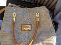 Valentina Made In Italy Leather Satchel Shoulder Bag Croc Textured Leather in Naperville, Illinois