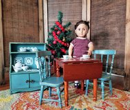 Doll Size Refurbished Table Set, Hutch, and Corning Ware in Warner Robins, Georgia