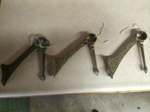 Set of 3 Victotian footrail brackets in Naperville, Illinois