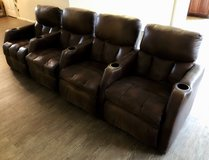 4 Brown Theater Recliner Chairs in Kingwood, Texas
