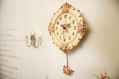 Wall Clock with Roses in Ramstein, Germany