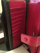 Leather 21 credit card slots wallet fushia in 29 Palms, California