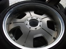 18inch rims and tires set(3) in Okinawa, Japan