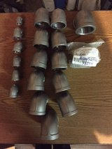 """Lot of 1/2"""", 1 1/4"""", 1 1/2"""" Stainless Steel 150lb Thd 90s in Plainfield, Illinois"""