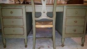 Olive Green Desk and Antique Chair in Quantico, Virginia