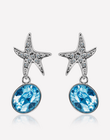 Oceanblue Starfish Crystal Dangle Earrings in Barstow, California