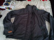 superdry  jacket  large  grey black one size small nearly new in Lakenheath, UK