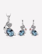Buny Crystal Necklace and Crystal Earrings Set in Barstow, California