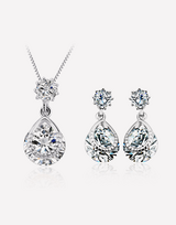 Tear Drop Crystal Necklace and Crystal Earrings Set in Barstow, California