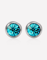 Disc Pierced Crystal Earrings in Barstow, California