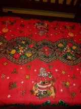 Christmas tablecloths in Houston, Texas