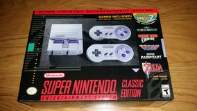 SNES Super NES Nintendo Entertainment System Classic Edition BRAND NEW IN BOX never opened in Plainfield, Illinois